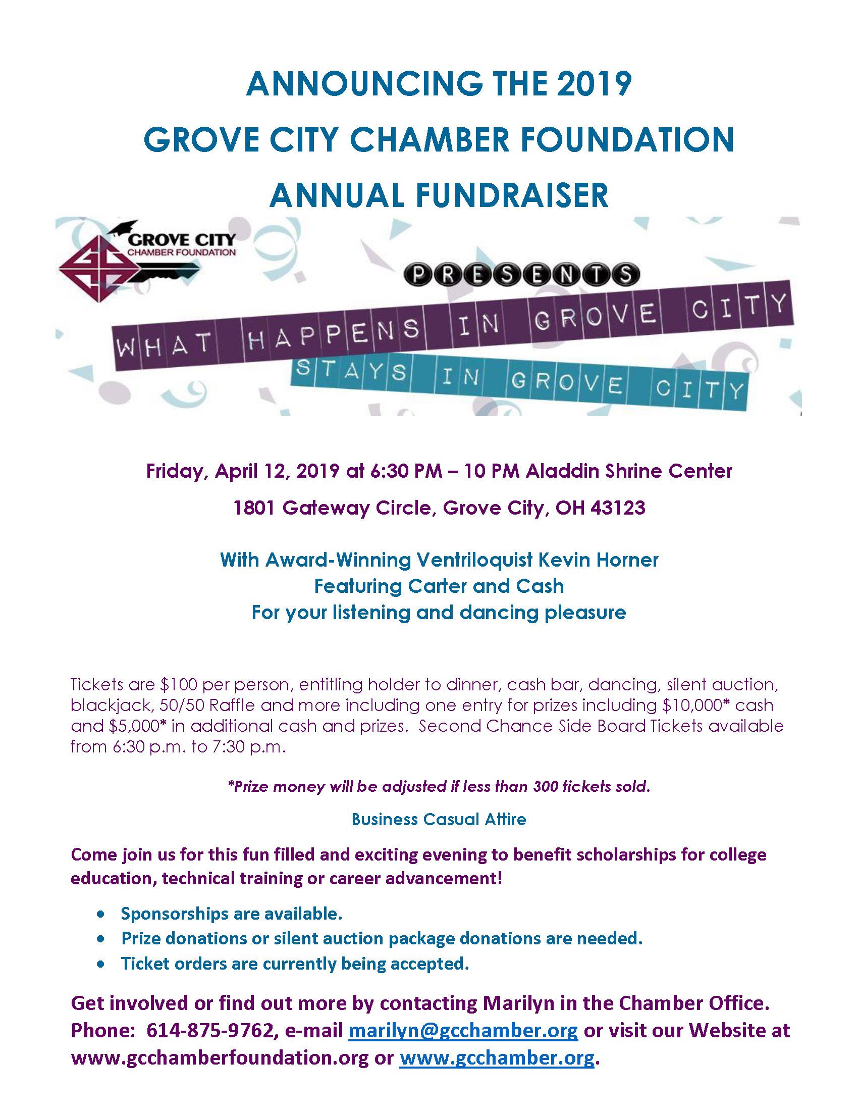 2019 Foundation Fundraiser Flyer