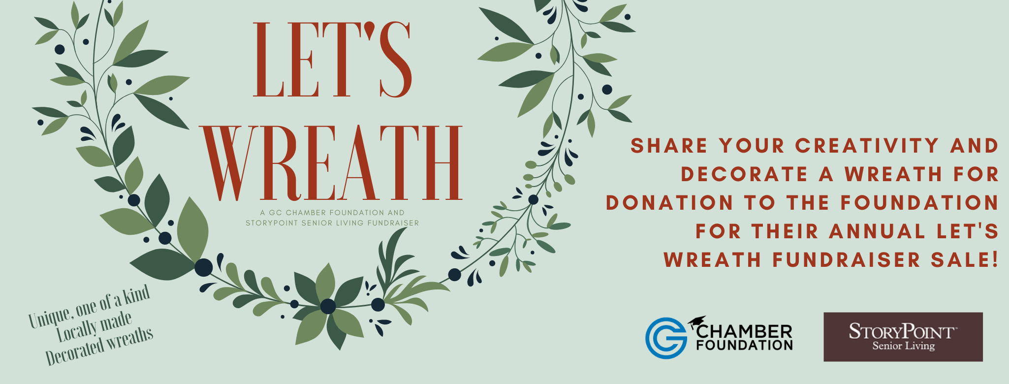2021 of FB Banner GC Foundation Let's Wreath Flyer